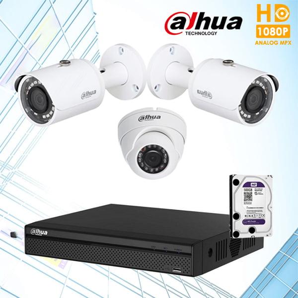 Bộ 3 camera Dahua 2.0Mp