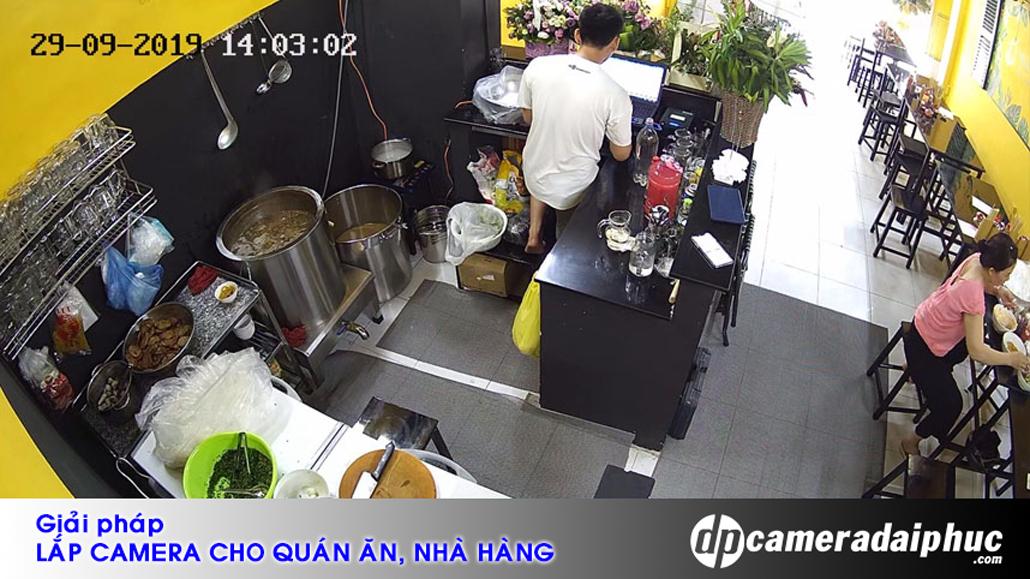 Giải pháp lắp camera cho quán ăn, nhà hàng